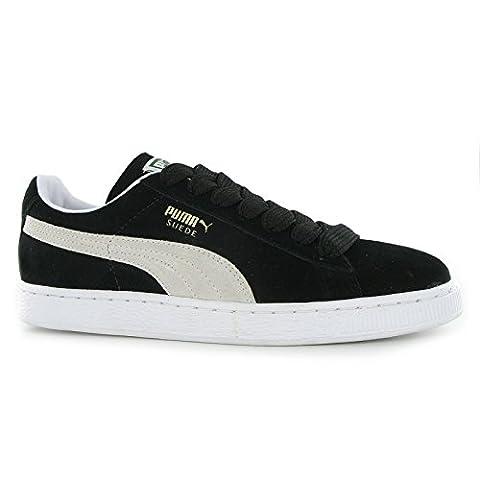 Puma Suede Classic + Homme Sneakers, noir/blanc, 8