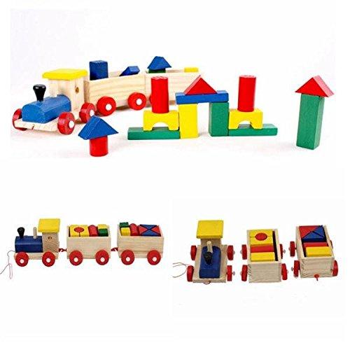 Bazaar Kids Baby Holz Eisenbahn Zug Stapeln, Sortieren Educational Entwicklungs-Bausteine Spielzeug