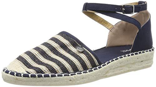 ESPRIT Damen INES Stripe san Espadrilles, Blau (Navy 400), 39 EU - Stripe Espadrille-sandale