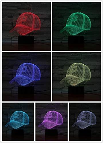 Lixiaoyuzz Nachtlampe 3D Led Lampe Nacht Pittsburgh Pirates Baseball Cup Touch Sensor Rbg 7 Farbwechsel Kinder Kinder Geschenk Usb Decor - Pittsburgh Pirates-cup