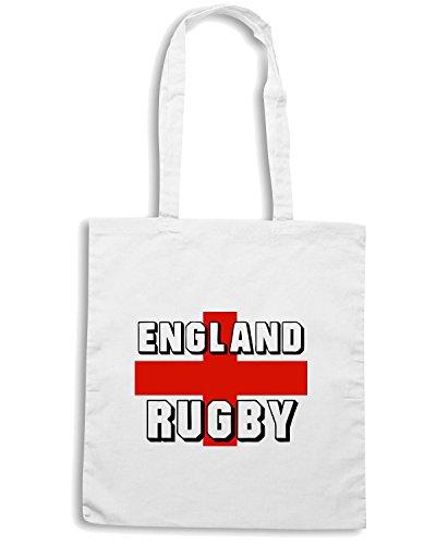 T-Shirtshock - Borsa Shopping TRUG0010 england rugby hoodie logo Bianco