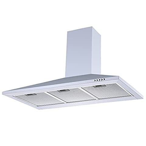 White 90cm Chimney Cooker Hood | Cookology CH900WH Unbranded Extractor Fan in White