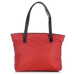 Fostelo Women's Susanne Nylon Shoulder Bag (Red) (FSB-466)