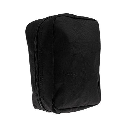Gazechimp Taktische Zubehörtasche, Praktische Mini Gürteltasche, Outdoor Rucksack zusätzliche Beutel, Molle Pouch Schwarz