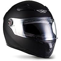 MOTO X86 Matt Black · Sport Scooter-Helm Helmet Integral-Helm Sturz-Helm Roller-Helm Cruiser Motorrad-Helm Urban · ECE zertifiziert · mit Visier · inkl. Stofftragetasche · M (57-58cm)