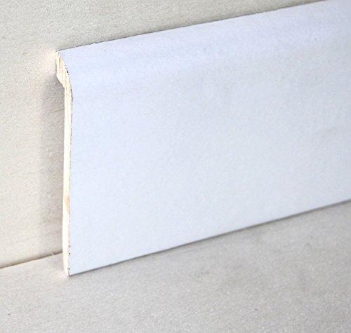 Hobby Legno - Coprimarmo Rivestito In Legno Di Tanganica Laccato Bianco mm. 100X20X2400 (Prezzo Per ml. 4, 80)