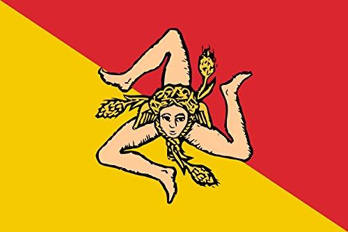 Preisvergleich Produktbild Flagge Sizilianischen Region oder der Autonomen Region Sizilien | Querformat Fahne | 0.06qm | 20x30cm für Diplomat-Flags Autofahnen