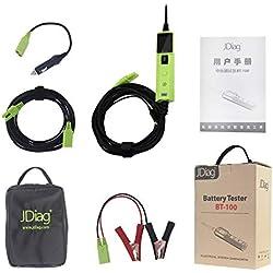 JDiag BT100 Probador de batería BT-100 Sistema eléctrico Probador de circuito Herramienta de escaneo de diagnóstico automático original para automóviles Camiones
