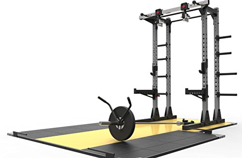 Primal Strength Stealth kommerziellen Fitness Half Power Rack matt Nero mit Drehgelenk Kinn Griffe und Bügelgriff Befestigung -