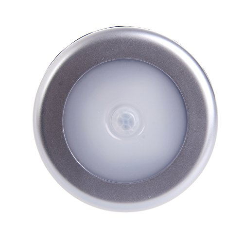 deendeng-uk 6LED con sensore di movimento senza fili luminosi lampadina lampada da parete armadio batteria 4.5V impermeabile S