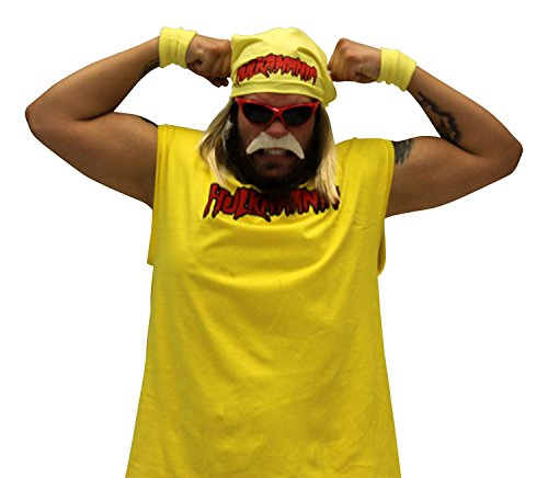 Hulk Hogan Hulkamania Complete Costume Set (Adult X-Large, Red Sunglasses/Red Bandana)