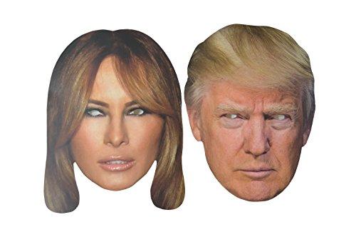 Preisvergleich Produktbild Donald Trump & Melania Trump Maskenpack Donald Melania ( Gesichtsmaske aus hochwertigem Karton mit Augenlöchern und Gummiband )