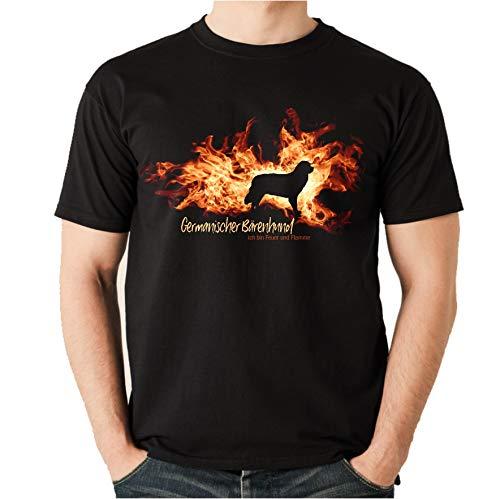Siviwonder Germanischer Bärenhund - Feuer und Flamme - Feuer und Flamme - Unisex T-Shirt Shirt schwarz 3XL