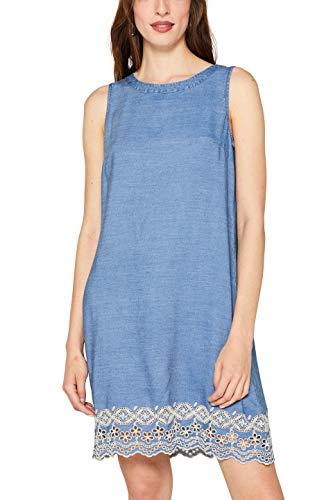 ESPRIT Damen 059EE1E020 Kleid, Blau (Blue Medium Wash 902), X-Small (Herstellergröße: XS)