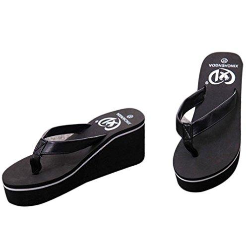 CLEARANCE SALE! MEIbax sommer sexy flip flops frauen - piste mit sandalen sandalen böhmischen (37, Schwarz) (Front-peep-toe)