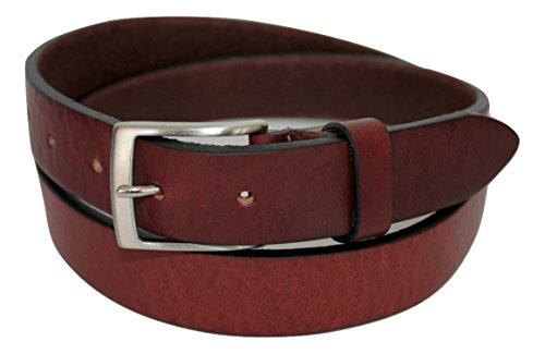 ITALOITALY - Real Leather belt, Brown, 3cm (1.25