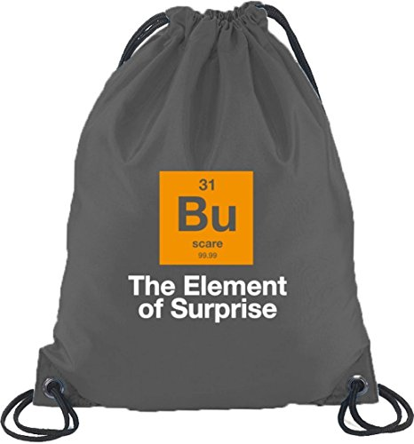 ween - The Element Of Surprise, Nerd Turnbeutel Rucksack Sport Beutel, Größe: onesize,Dunkelgrau ()