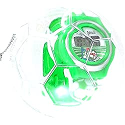 Green plastic football theme watch in football christmas bauble case