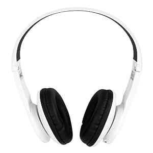 AEC Wireless Auricolari Cuffie Bluetooth 2.1+EDR Headphones Auricolare Microfono supporto FM SD Card Carta for iSO Android Smartphone, Tablet (Bianco)