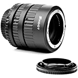 Shoot 12mm 20mm 36mm Auto Focus AF Macro Extension Tube Set for Nikon DSLR AF AF-S D3100, D3200, D3300, D5000, D5100, D5200, D5300 (Black)