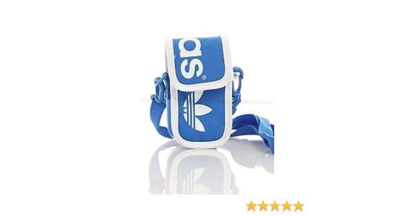 e03915a19e Adidas Originals Linear Mini Bag New Sealed Neck Pouch Blue White Mobile  Smart Phone Money Wallet Card Cash Holder Sports Adults Mens Womens Boys  Girls ...