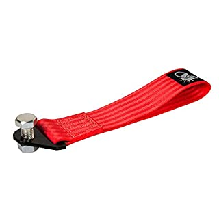 Auto-Dress Rallye Drift Schlaufe - Rennsport / Motorsport Abschlepptau Tau - Racing Hook Tow Strap - Abschleppschlaufe Schlaufe in 9 Farben: Schwarz, Rot, Orange, Gelb, Grün, Blau, Lila, Grau, Pink! (Rot)