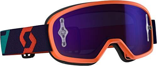 Scott Buzz Pro Kinder MX Goggle Cross/MTB Brille orange/lila chrome works