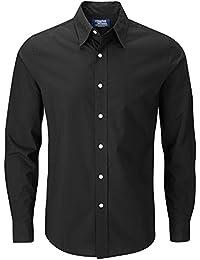 2a41dc34c6706 Charles Wilson Men s Long Sleeve Plain Poplin Casual Shirt