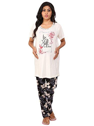 Vixenwrap White & Black Floral Print Maternity Suit