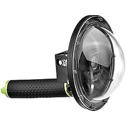 SHOOT Boîtiers étanches Port Dôme pour GoPro Hero 3+/4 Argento Nero Caméra 6 Pouces Caméra sous-Marine Plongée Objectif Logement Photographie