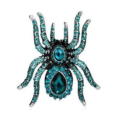 ENCOCO Spinnen-Stretch-Ringe für Männer und Frauen, mit Diamanteinsatz, verstellbare - Kostüm Ringe Mit Stretch Bands