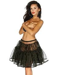 Petticoat in schwarz aus Organza - Tüll Volant und passend zu unseren Dirndl Kleidern - Gr. XS - XXL (13041)