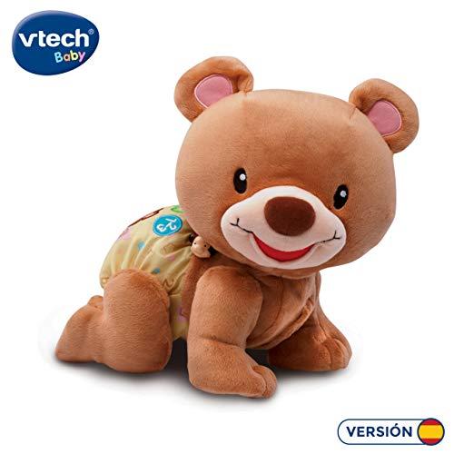 VTech - Osito gateos, Oso Peluche Interactivo, Suave Animal gateador Que estimula la curiosidad del bebé y Anima a Seguir imitándolo, Color marrón (3480-181122)