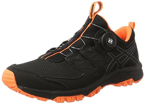 Asics Gel-Fujirado, Scarpe da Corsa Uomo Multicolore (Black/Carbon/Hot Orange)