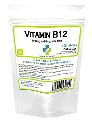 Vitamin B12 1000mcg Sublingual - 100 Tablets from Lindens