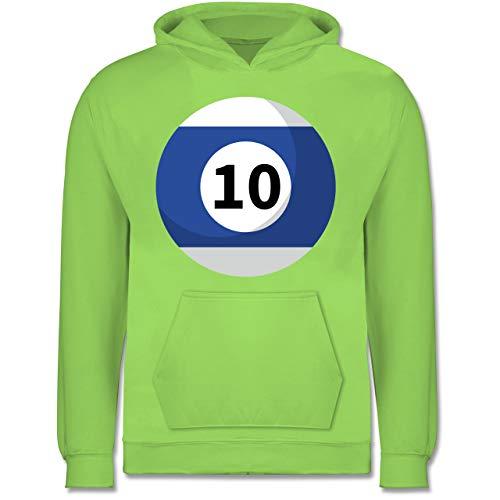 Shirtracer Karneval & Fasching Kinder - Billardkugel 10 Kostüm - 7-8 Jahre (128) - Limonengrün - JH001K - Kinder - Zehn Jahren Kostüm Für Paare