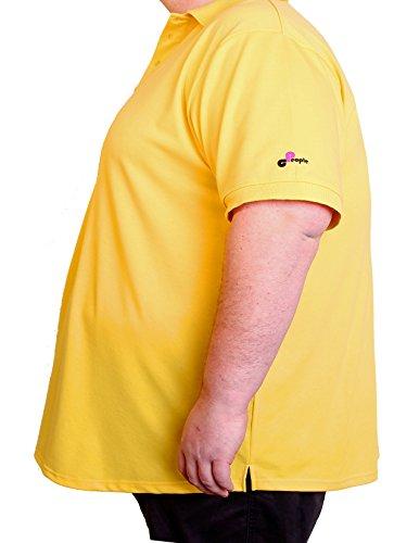 Herren kurzarm Polo Shirt in Übergröße / Oversize 6 XL gelb