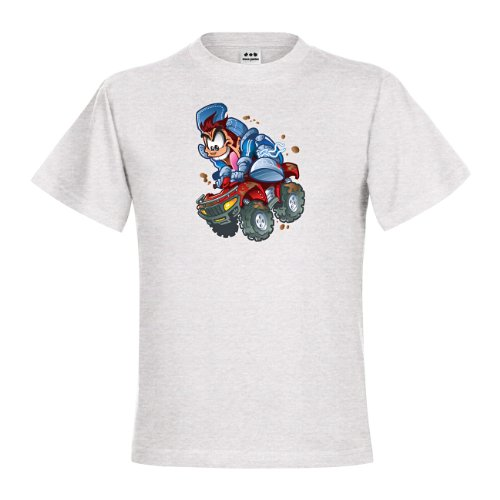 dress-puntos Kids Kinder T-Shirt Wild Quad Rider Boy drpt-kt01023-80 Textil ash / Motiv farbig Gr. 152/164