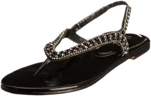 Unze Evening Sandals, Sandali donna Nero (Schwarz (L18356W))
