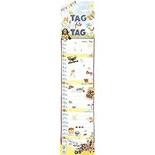 Kohwagner Tag für Tag 2017 - bunter Streifenkalender für die ganze Familienkalender - 12 x 52,2 cm