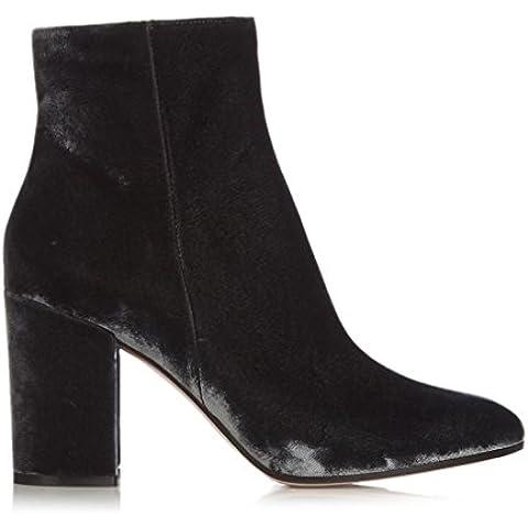 Femminile Inverno Inghilterra puro velluto della caviglia mano Stivali Nero