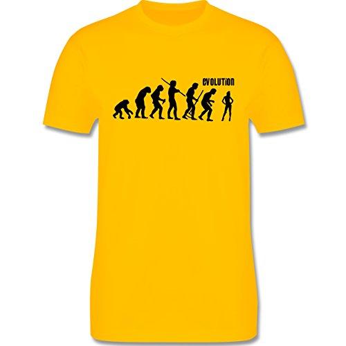 Evolution - Tänzerin Evolution - Herren Premium T-Shirt Gelb