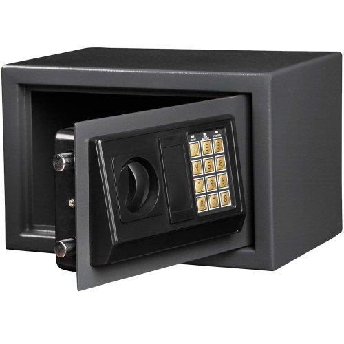 Jago cassaforte elettronica, apertura con combinazione e chiave (grigio scuro)