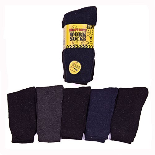 5 PAIRS MULTICOLOUR MENS THERMAL WORK SOCKS EXTRA COMFORT,WARM & THICK