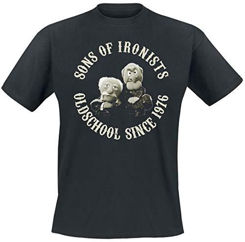 Herr Show Shirt (Die Muppets Sons of Ironists T-Shirt schwarz M)