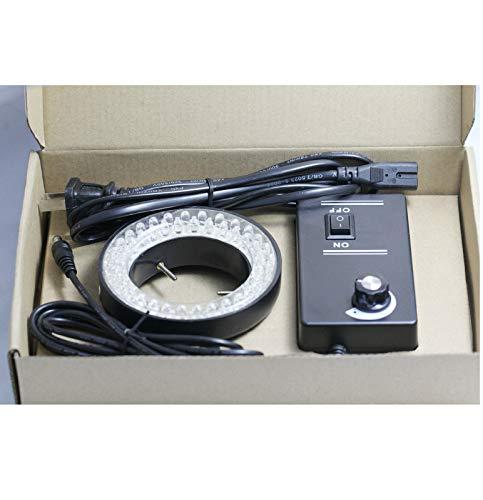 Microscopio estéreo Anillo LED Iluminador de luz 60 bombillas 110V-240V + Cable de alimentación