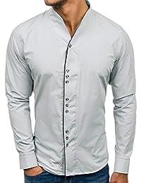 Chemise de Soirée de Cocktail Haut Homme Chemise Slim Fit Top Homme Chemise  de Travail Imprimé Tee Shirt Pas Cher… 4fcaa0022cc