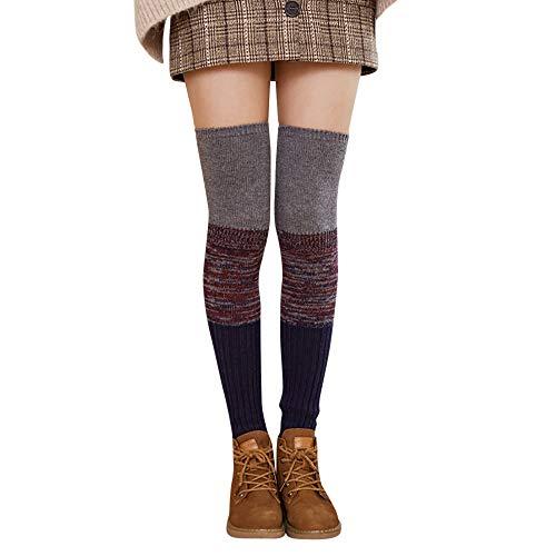 ork Strümpfe Socken Winter Dicke Über die Kniestrümpfe Beinärmel Leggings(B,One Size) ()