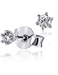 Goldmaid Women's Earstuds White Gold two Diamonds 14ct