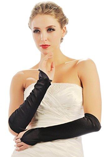 (HBH Hamburger Brautmoden Braut-Handschuhe 9304 Schwarz)